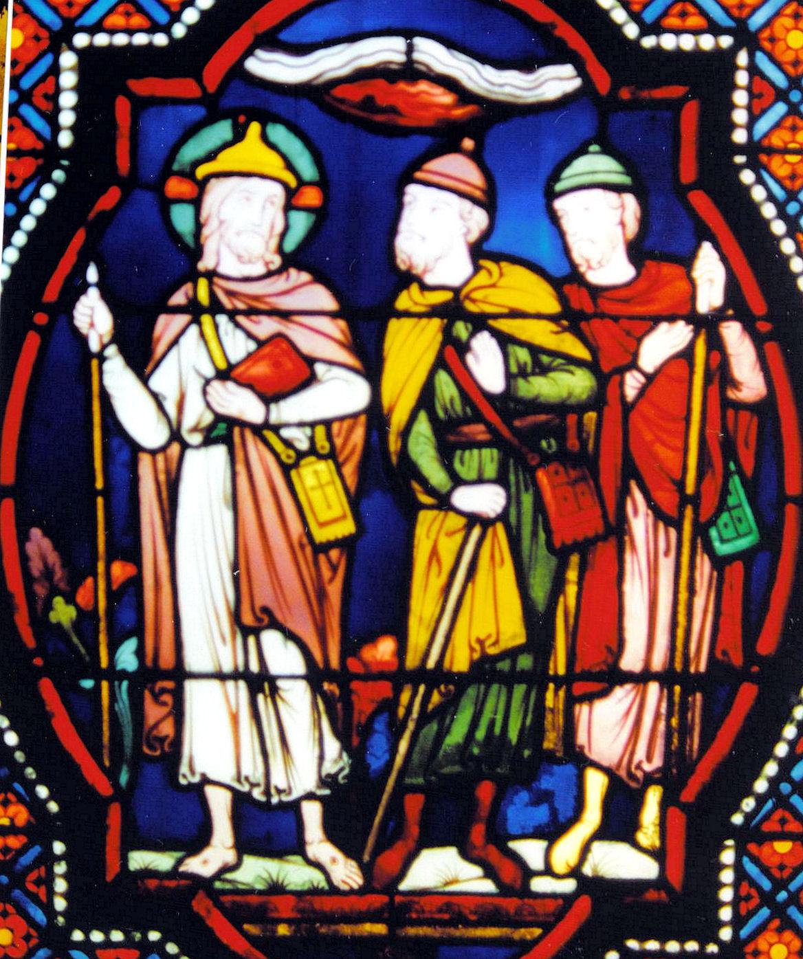 Vitrail de l'église de Taverny