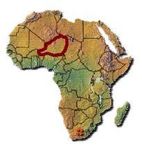 CARTE NIGER dans l'AFRIQUE