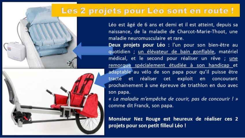 Le matériel prévu pour Léo
