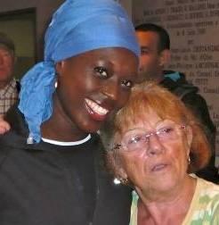 Monique Pavani en compagnie de Myriam Soumaré