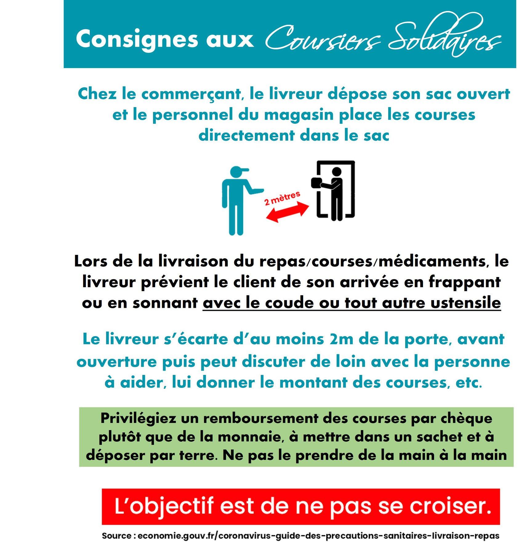 Consignes des Coursiers Solidaires St Leu Val d'Oise