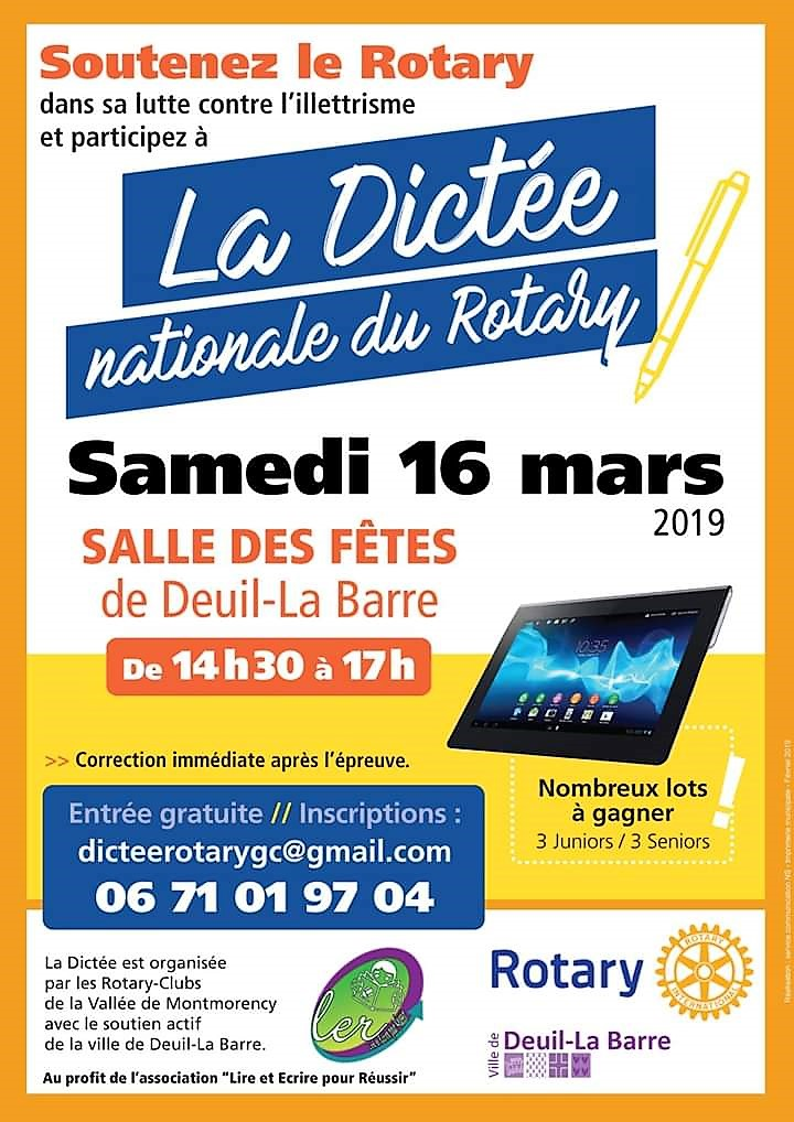 Dictée du Rotary 2019 - Deuil-la-Barre