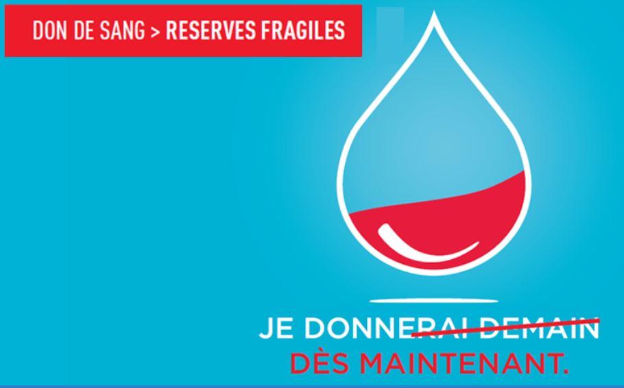 DON DU SANG : RESERVES FRAGILES