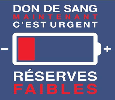 Don du sang : réserves faibles
