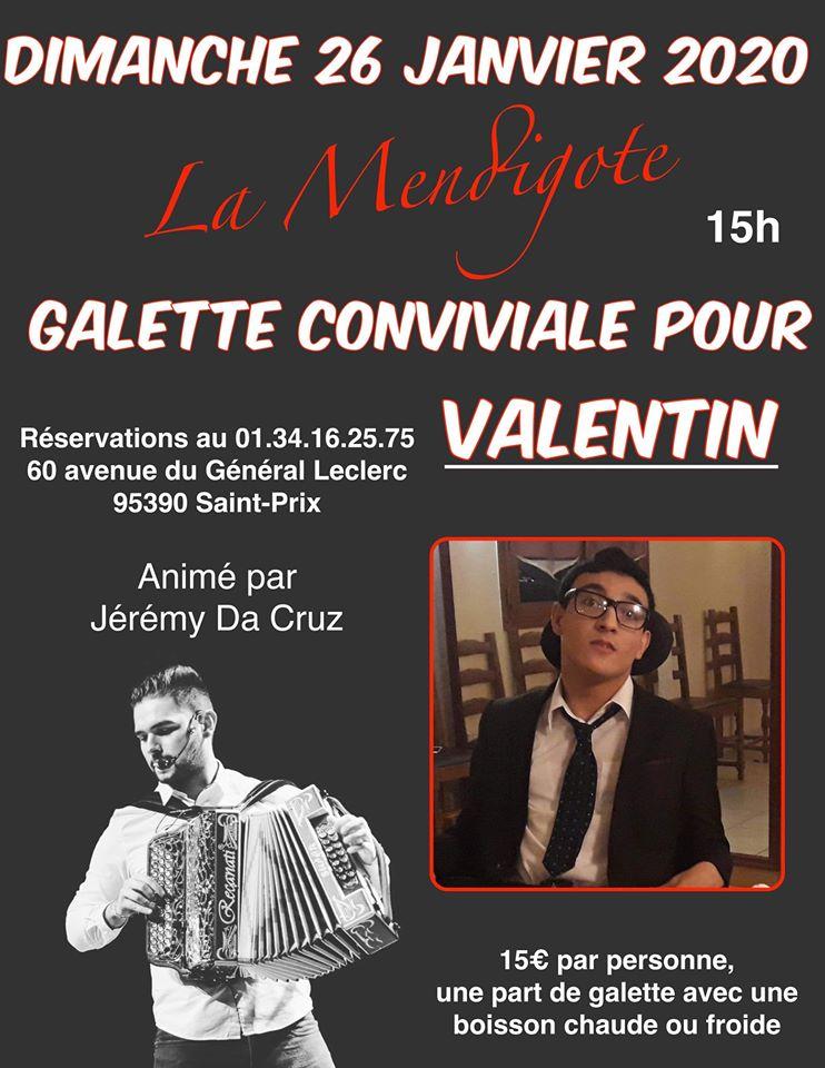 Galette pour Valentin le 26 janvier 2020