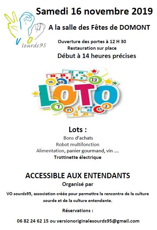 Loto VO Sourds 16 novembre 2019