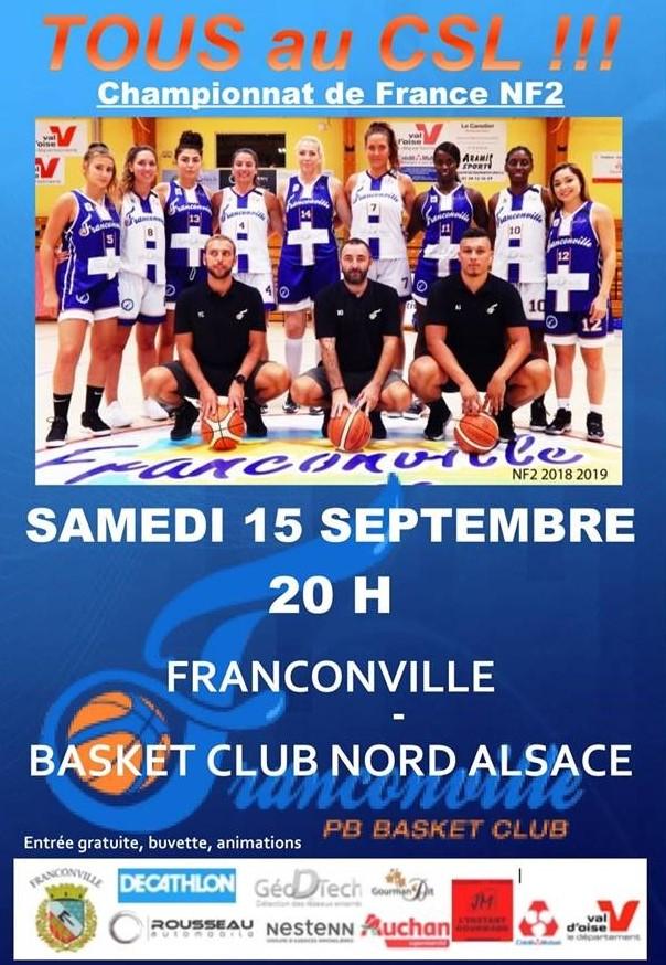 Franconville - Basket Alsace le 15 septembre 2018