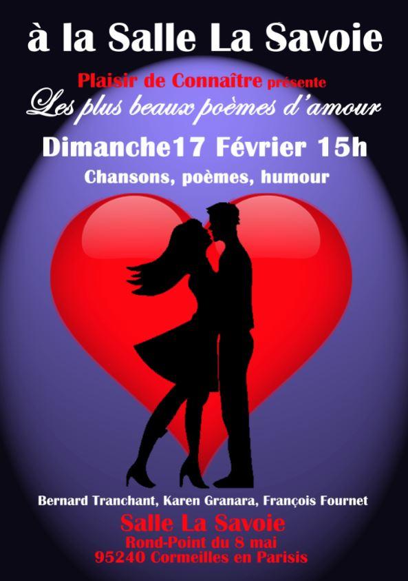 Spectacle Les Plus Beaux Poèmes Damour 17 Février 2019