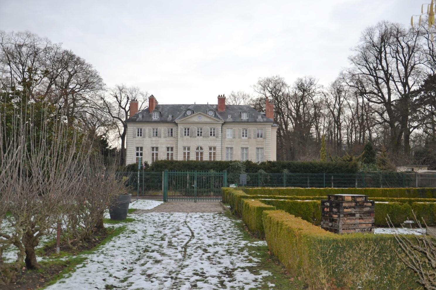 Janvier 2019 - Château de la Chesnaie à Eaubonne - vue depuis le potager