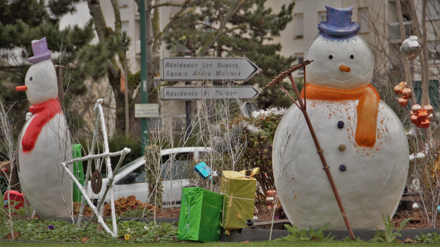 Déco de Noël à Franconville (décembre 2019 - photo de Patrick Danielou)
