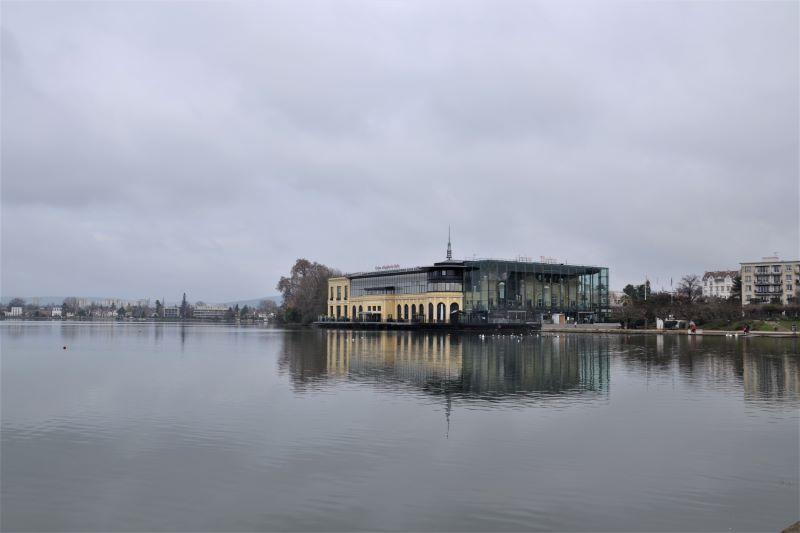 Lac et casino d'Enghien (janvier 2021)