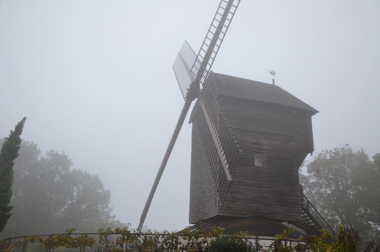 Moulin de Sannois dans le brouillard (novembre 2019)