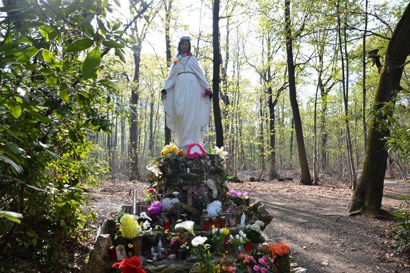 La Vierge noire dans la Forêt de Montmorency (mai 2021)