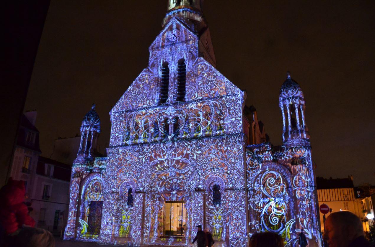 Projections monumentales sur l'église Saint-Joseph (décembre 2019)