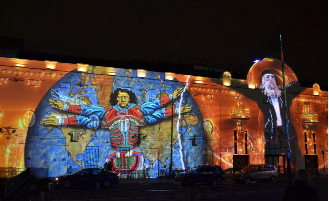 Projections monumentales sur le Casino d'Enghien (décembre 2019)