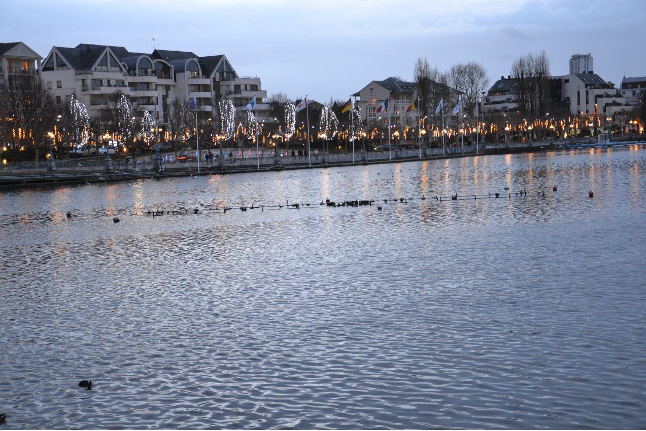 Illuminations à Enghien - le lac (décembre 2019)