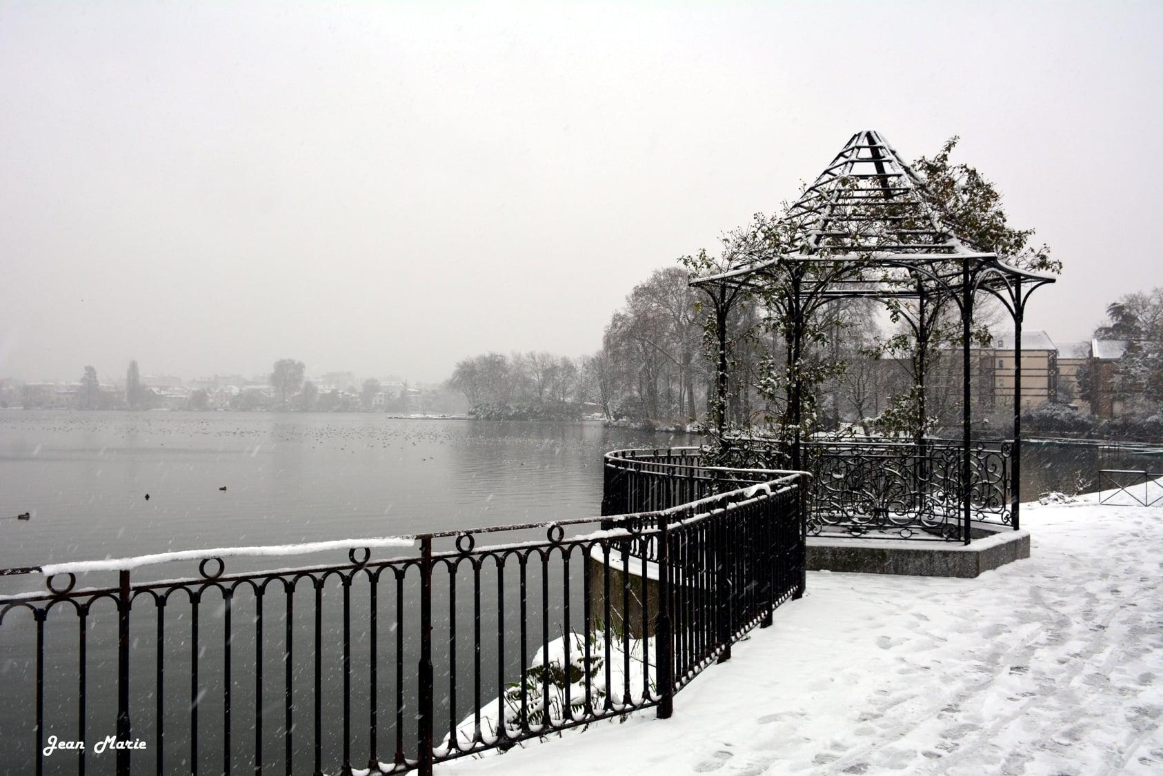 Episode neigeux - Lac d'Enghien (janvier 2021 - photo de Jean-Marie Perdrial)